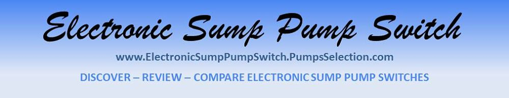 Electronic Sump Pump Switch